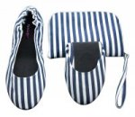 Tipsyfeet Nautical Blue Foldable Shoe